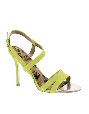 Image 1 ofSam Edelman Abbott Lime Strappy Sandals