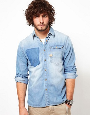 Image 1 of G-Star Shirt Nail Denim Light Aged