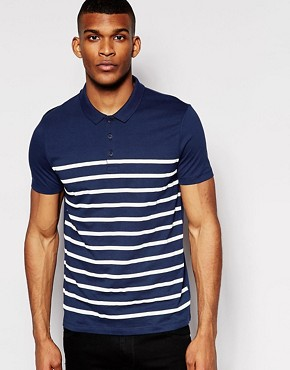 ASOS Polo With Breton Stripe