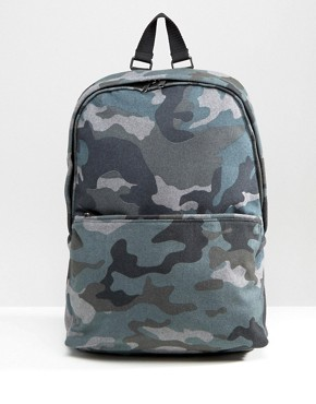 ASOS Backpack In Camo Melton