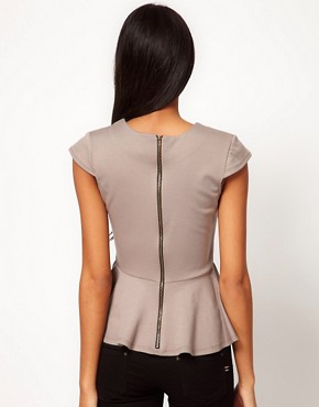 Image 2 ofASOS Top with Peplum in Ponte