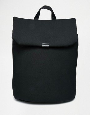ASOS Backpack In Scuba With Fold Over
