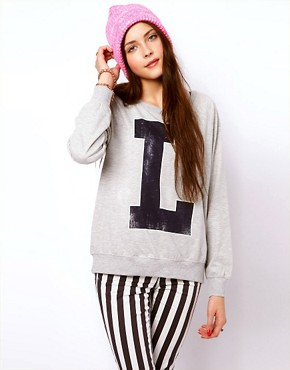 Image 1 ofVero Moda Letterman Sweat Top