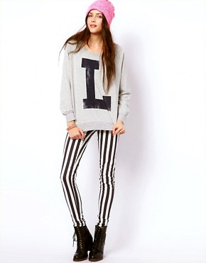 Image 4 ofVero Moda Letterman Sweat Top
