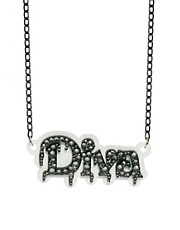 Funky Bling Diva Short Chain Necklace