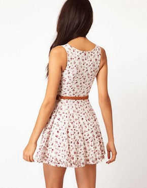 Image 2 ofClub L Floral Printed Lace Dress
