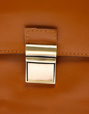 Image 4 ofASOS Leather Clean Lock Across Body Bag