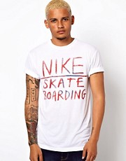 Nike Skateboarding T-Shirt with Spraypaint Print
