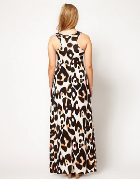 Image 2 ofASOS CURVE Maxi Dress In Animal Print