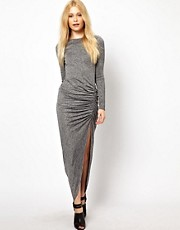 River Island Jersey Ruched Side Maxi Dress