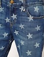 Image 3 ofCurrent/Elliott The Boyfriend Jean in white Star Print