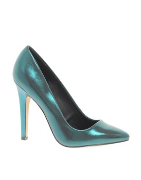 Image 1 ofASOS PARIS Metallic Pointed High Heels