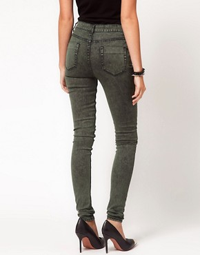 Image 2 ofASOS Skinny Jeans in Khaki Snow Wash
