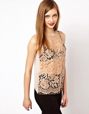 Markus Lupfer French Lace Vest Top