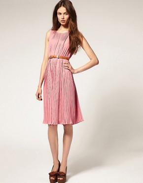 Image 4 ofASOS Sleeveless Midi Dress with Pleats