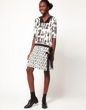 Image 4 ofLulu and Co House of Jazz Sailor Collar Dress in Tribal Print