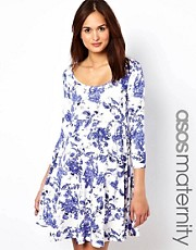 ASOS Maternity Skater Dress in Print