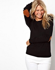 ASOS Heart Elbow Patch Jumper