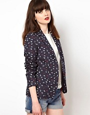Sessun Jacket in Bird Print