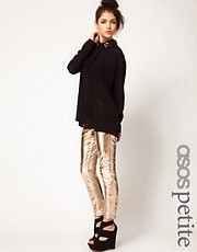 ASOS PETITE Exclusive Rose Gold Leather Trousers