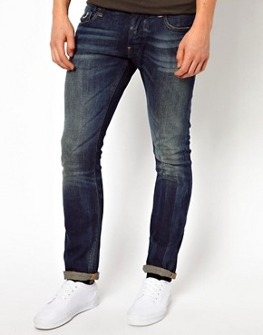 Image 1 of G-Star Jeans Defend Super Slim Fit Dark Aged