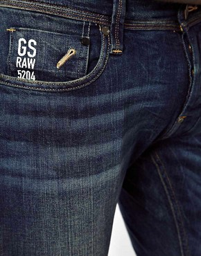 Image 3 of G-Star Jeans Defend Super Slim Fit Dark Aged