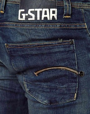Image 4 of G-Star Jeans Defend Super Slim Fit Dark Aged