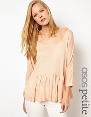 ASOS PETITE Trapeze Top in Loose Knit