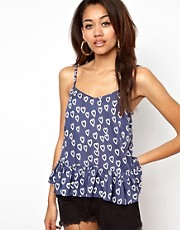 River Island Peplum Cami Top