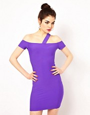 Boulee Phoebe Bodycon Dress with Cut-out Shoulders