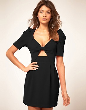 Image 1 ofASOS Cut out Front Bow Dress
