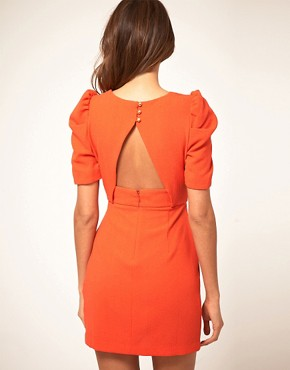 Image 2 ofASOS Cut out Front Bow Dress