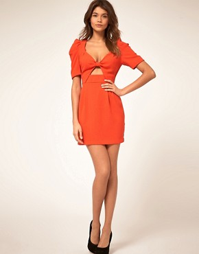 Image 4 ofASOS Cut out Front Bow Dress