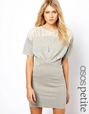 ASOS PETITE  Knitted Dress With Lace Top