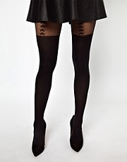 Gipsy Mock Star Suspender Tights