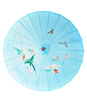 Image 2 ofASOS Oriental Print Parasol