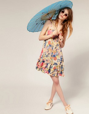 Image 4 ofASOS Oriental Print Parasol