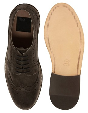Image 3 of ASOS Brogues With Leather Sole