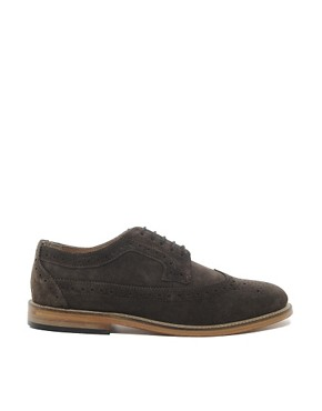 Image 4 of ASOS Brogues With Leather Sole