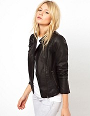Oasis Stud Leather Look Jacket