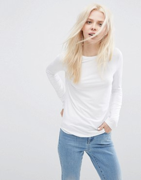 ASOS T-Shirt with Long Sleeves and Crew Neck