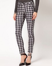 ASOS Skinny Jeans in Reverse Dogtooth Print