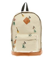 ASOS Backpack with All Over Print