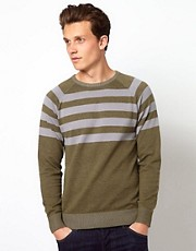 Wolsey Jumper With Printed Stripe