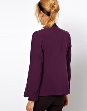 Image 2 ofASOS PETITE Exclusive Zip Pocket Notch Blazer