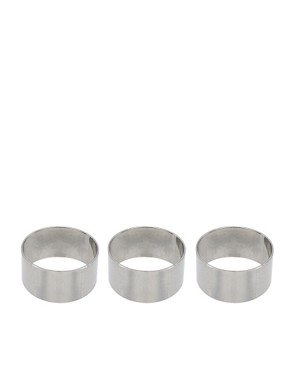 Image 1 ofASOS Adjustable Multipack Plain Band Rings
