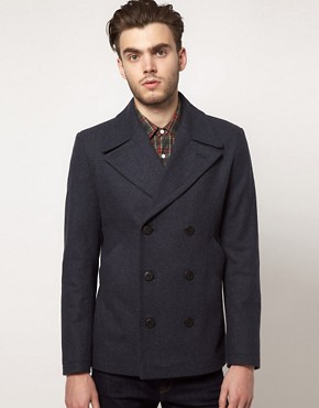 Image 1 ofASOS Peacoat