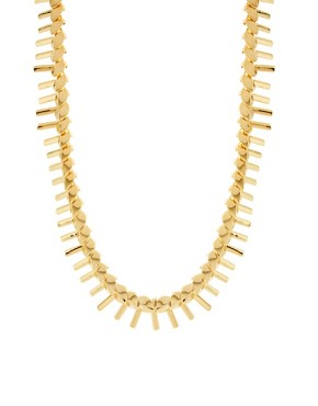 Image 1 ofGiles &amp; Brother Petal Fringe Necklace in Bright Gold
