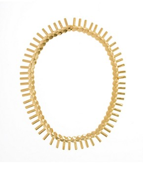 Image 2 ofGiles &amp; Brother Petal Fringe Necklace in Bright Gold