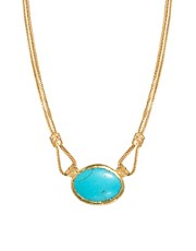 Ottoman Hands Turquoise One Stone Necklace